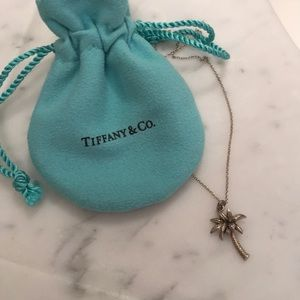 Tiffany & Co. silver palm tree necklace